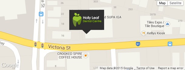 Holly Leaf Dental Centre Location Map
